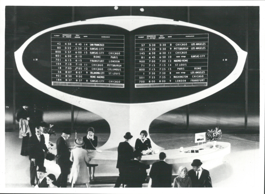Splitflap display at TWA Terminal