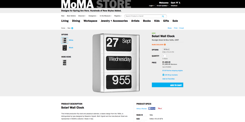 MoMA online design store